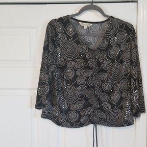 John Paul ladies blouseblack sequins